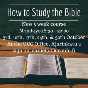 How to study the Bible course